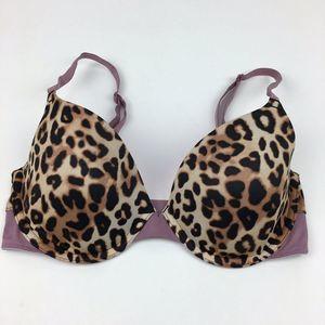 PINK Victoria's Secret Leopard T-Shirt Bra 32D